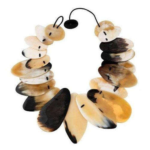Natural Buffalo Horn Fashionable Necklace From India
