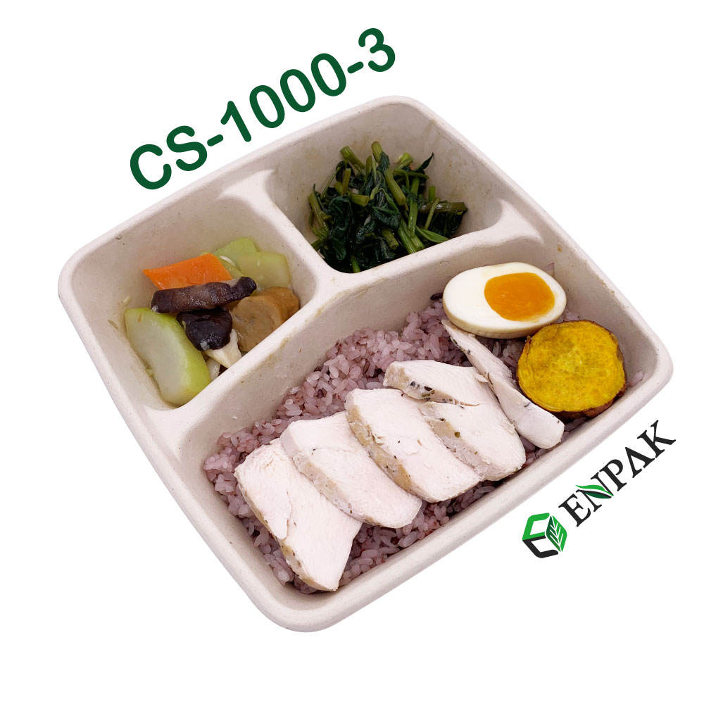 Taiwan Sugarcane to go boxes take out box bagasse biodegradable food packaging