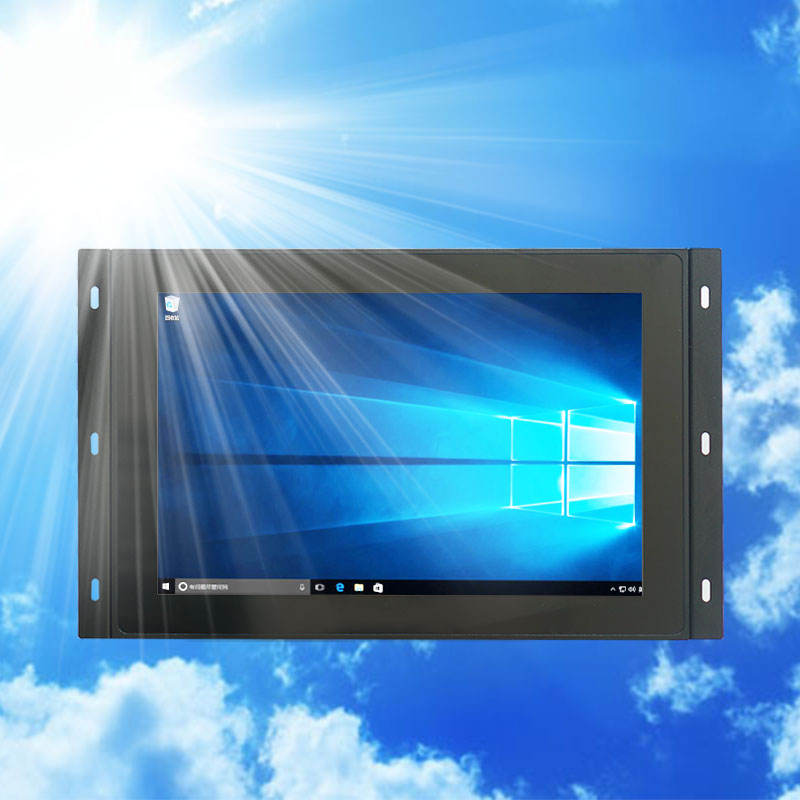 Sunlight readable 1000 nits 12 inch anti-glare lcd monitor for outdoor water dispenser