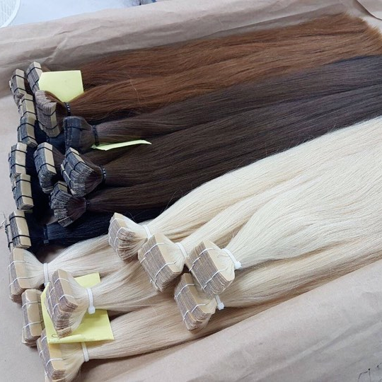 hair extensions , tape straight hair hight quality and wholesale price