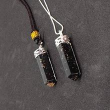 Good Quality Black Tourmaline 1.5 - 2 Inches Orgone Cap Pencil Pendant| Wholesale Orgonite Pendants from India:Orgone Cap Pencil