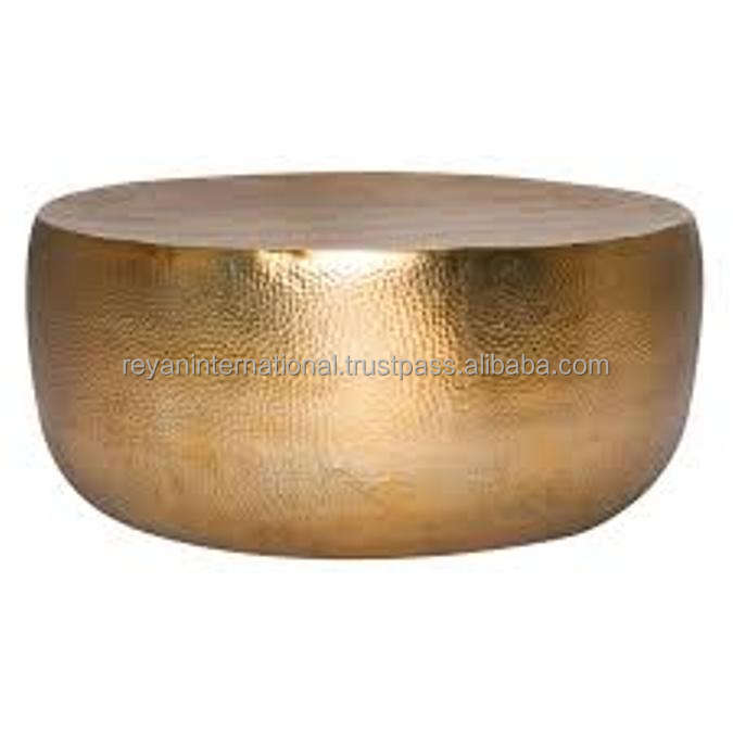 Hot selling Hammered Metal Aluminium Coffee Table
