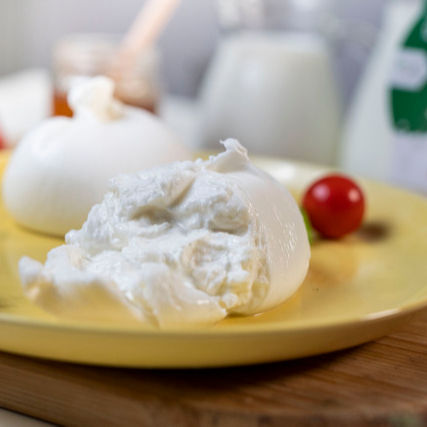FRESH HANDMADE BURRATA CHEESE MADE IN ITALY SINGLE PACK 250 G