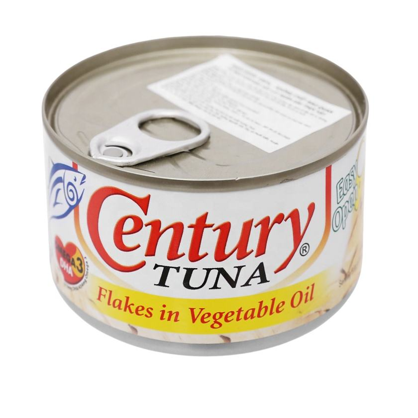 Canned Fish High Quality Canned Food Factory Century Tuna Flakes In Vegetable Oil 170g