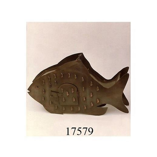 Exporter Of Handicraft Item of Iron Fish Design Votive Candle Holder