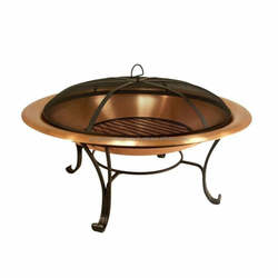 Modern Outdoor Fire Pit Copper Stainless Steel Garden Decor