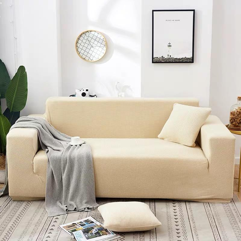 Couch Cover 2 seater Sofa Covers Stretch Slipcovers for Living Room Furniture Covers for Sofa with Elastic Thick Washable