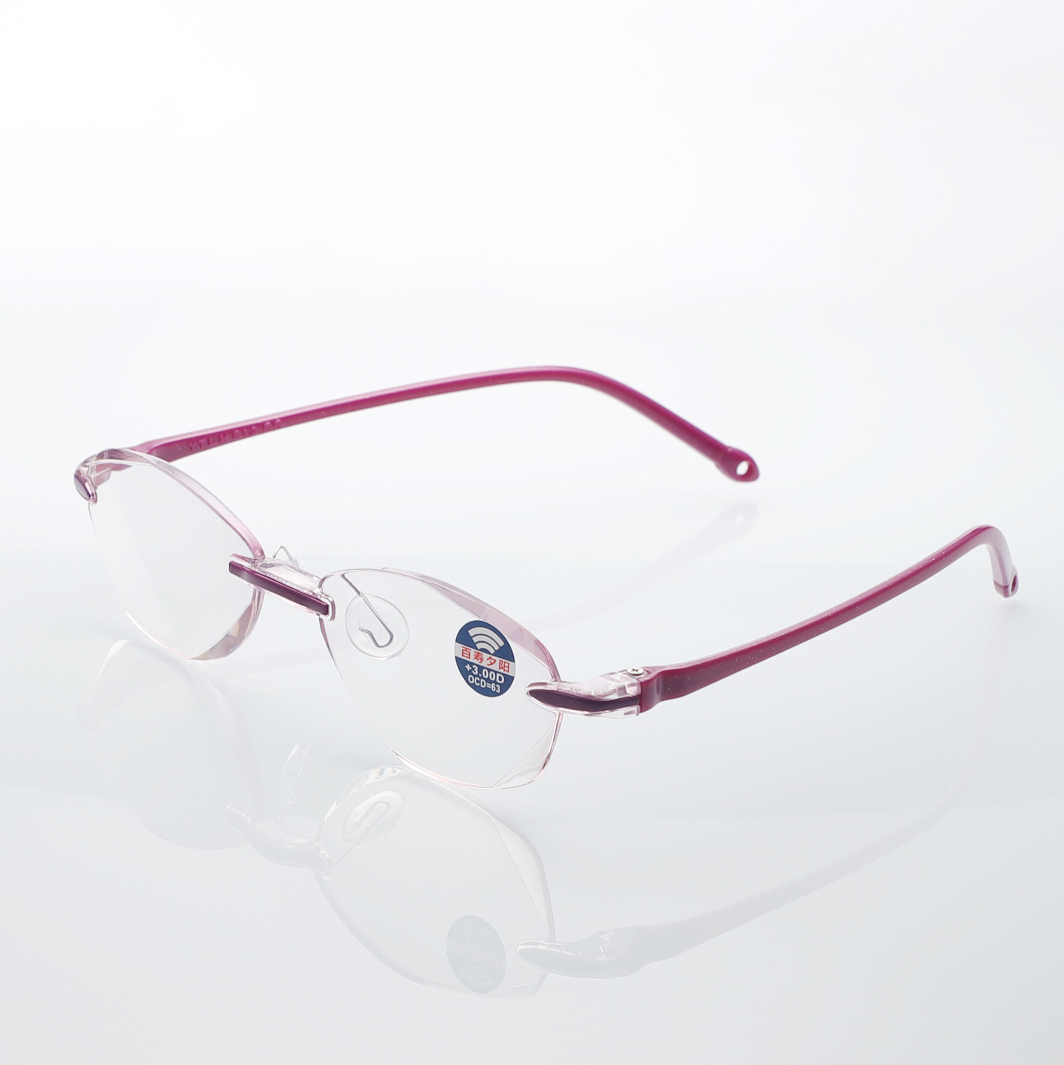 High quality luxury plastic frame glasses spectacles vogue reading eyewear for men
