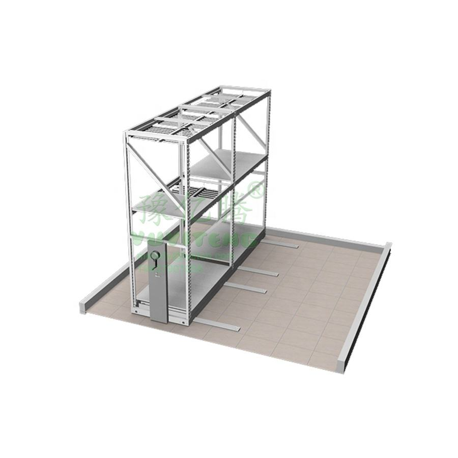 Long span steel assemble greenhouse mobile racks multilayer Hydroponic NFT growing system