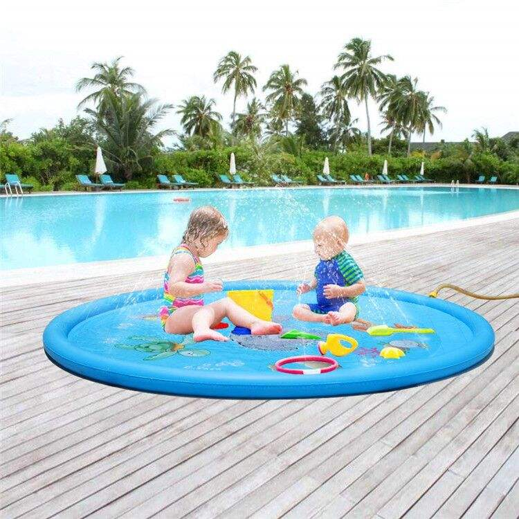 Factory wholesale good price top quality eco-friendlyInflatable Pvc Water Splash Play Mat Sprinkle Toys for Kids inflatable toys
