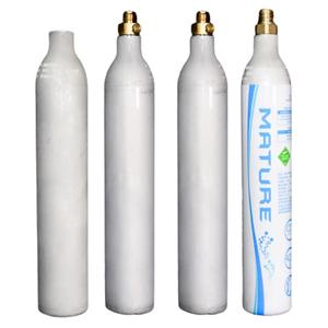 Completely suitable 0.6L aluminum carbon dioxide co2 soda cylinder with valve