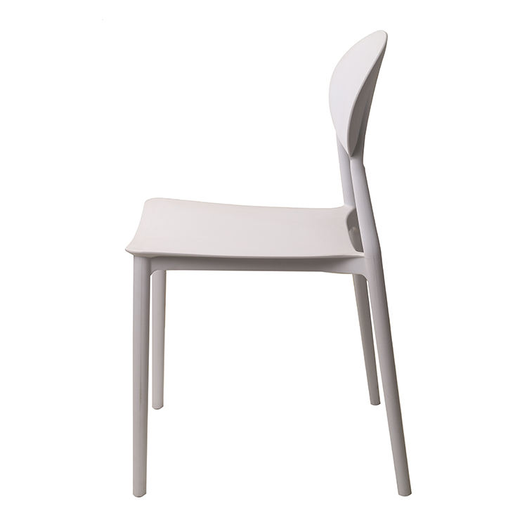 China furniture factory wholesale cheap white plastic stacking outdoor garden dining chairs