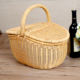 New Product 2020 Mini Portable Tote Bag Basket with lid Portable Storage Box Picnic Storage Basket