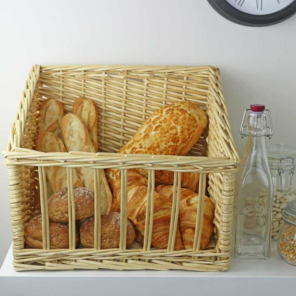 New Products ideas 2020 Eco-friendly Rattan Wicker Sloped Display Bread Basket for Bakery made in Vietnam