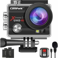 2021 Upgrade Campark 4K 20MP Action Camera EIS External Microphone Remote Control