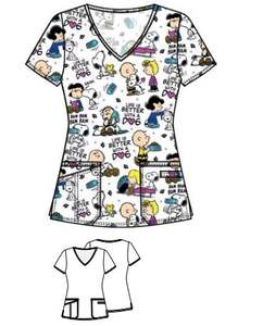 Scrub Tops Polyester/Spandex Hospital Women Soft Custom Print Sublimated Hospital Scrub Uniforms Tooniforms Nurse Uniform