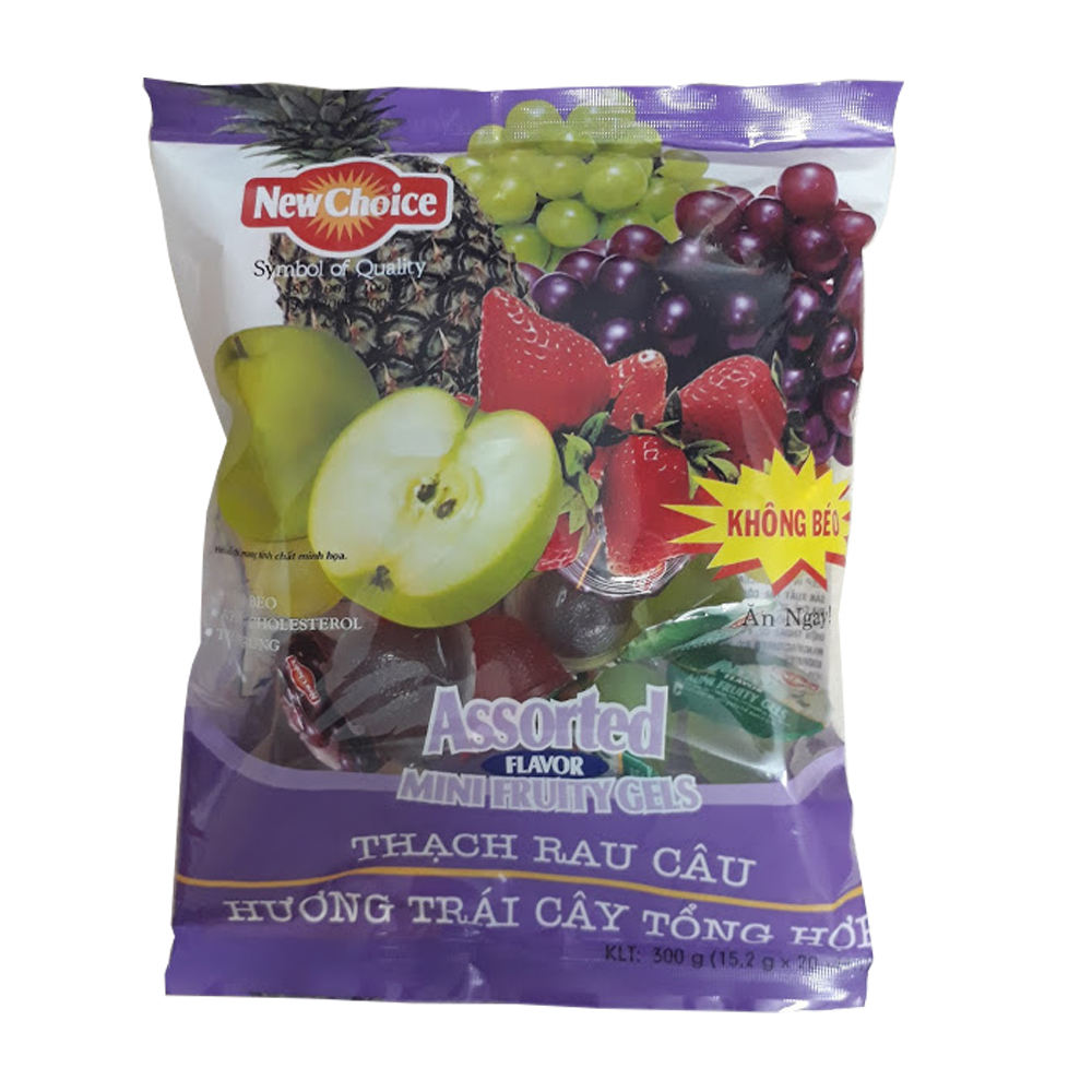 High quality jelly from New Choice brand from Vietnam Bag 300g mini fruity gels