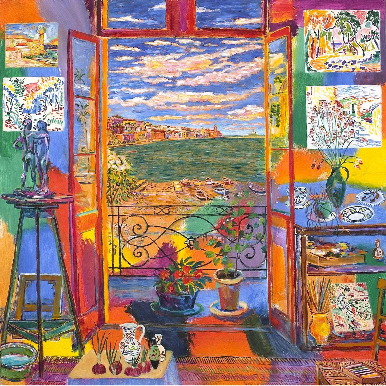 Best Print Canvas Matisse's Studio in Collioure l large print With Size 30 x 30 in (76 x76 cm) From UK