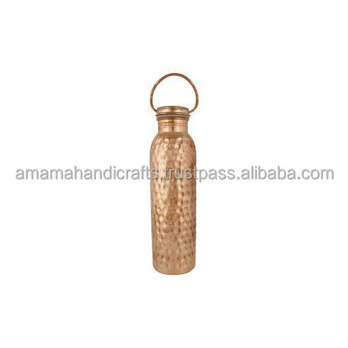 Hot Selling Hammered Copper Drinking Water Bottle with Handle