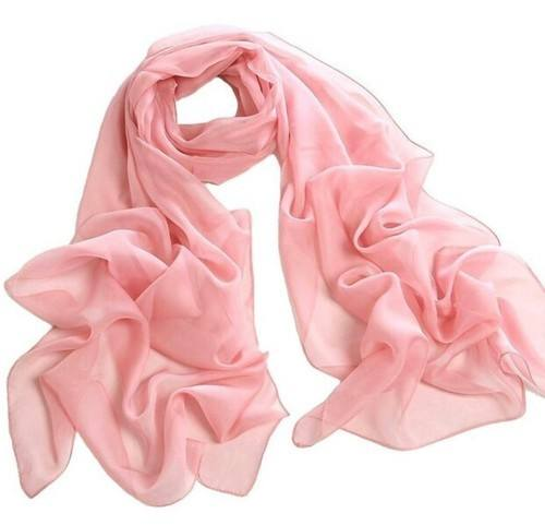 Beautiful Color Pure Silk Chiffon Long Silk Chiffon Scarves skin friendly soft smooth scarf for Women manufacturer of women