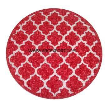 latest design red colour designer placemats