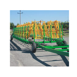 Spring-tooth harrow BPG-24 1.2 meters wide sections mounted on a frame