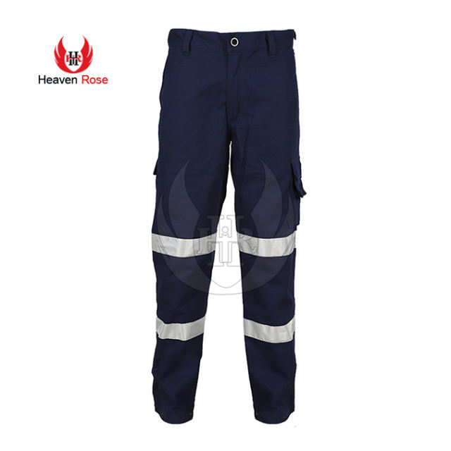 Hi-Vis Breathable Flame Retardant Trousers With Reflective Tape Safety Pants Work Pants Reflective Safety Pant