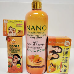 Nano Half Caste exclusive whitening serum with natural papaya & carrot extracts