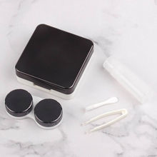 Cosmetic Contact Lenses Box Case for Eye color Care Travel Kit Holder Container reflective Cover plastic contact lens case
