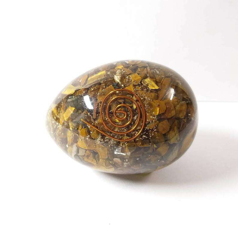 wholesaler of Agate Orgonite Eggs with Chakra Tree by fengshui agate