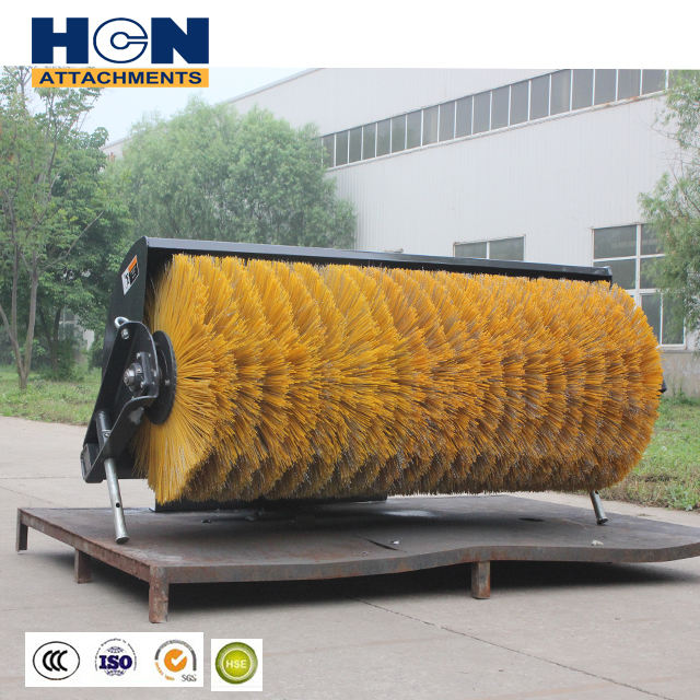 HCN 0201 skidsteer loader attachment snow sweeper broom