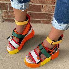New Thick Bottom Roman Slope Heels Damp Sponge Cake Super High Heels Waterproof Platform Sandals Small Woman Shoes
