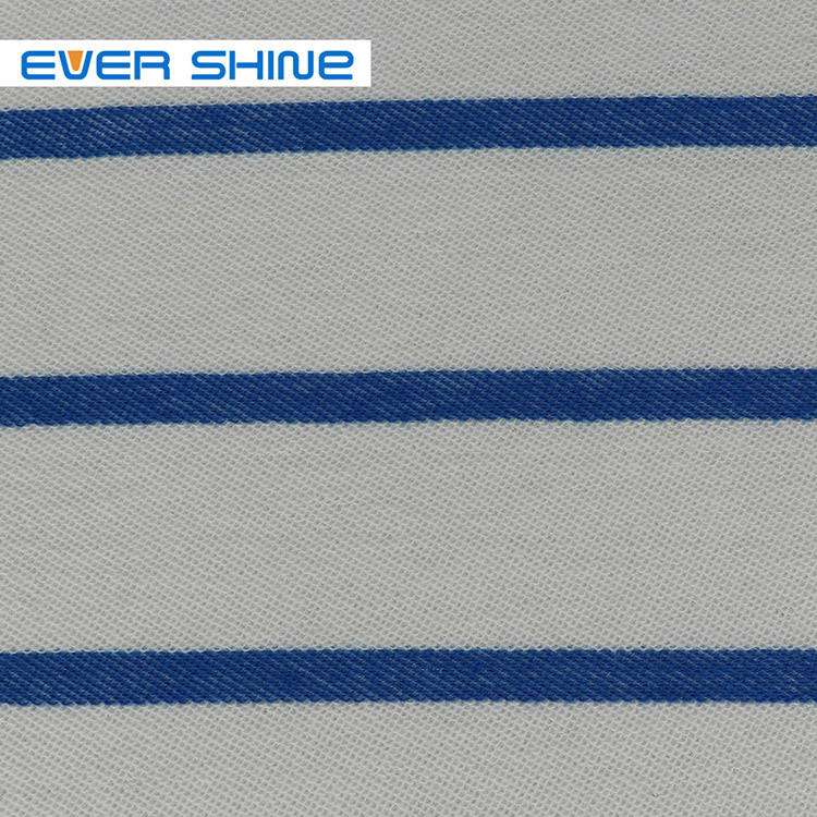 Manufactory Organic cotton Protect skin Stripe French terry baby kids knitted cotton fabric for garment
