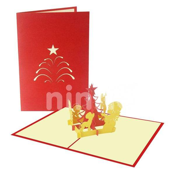Baby prayer 2 - Christmas Pop up Greeting Card