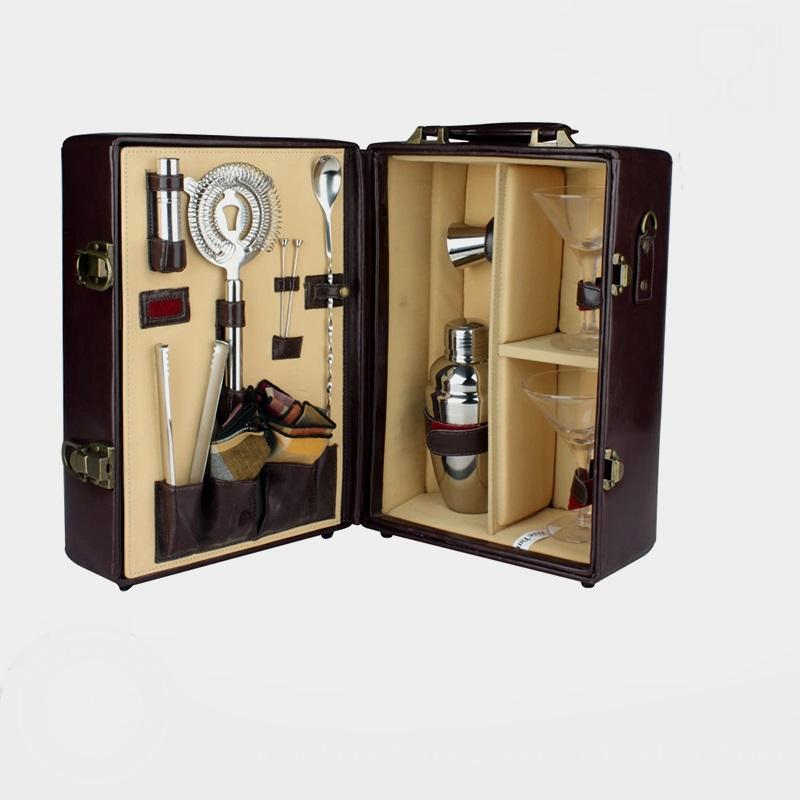 factory direct hot sale sublimation cocktail bar set wine bar accessories with gift box