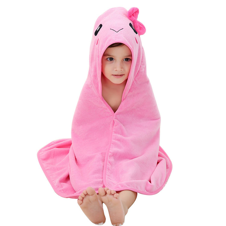 MICHLEY Baby bath towel cartoon reindeer bathrobe children towel hooded beach towel baby bibulous bathrobe