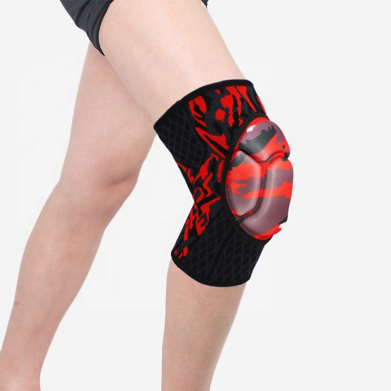 Protective Gear Knee Grace Fitness safety Camouflage Thickened EVA Breathable Fabric Lycra Firmly Sewed Good Compression