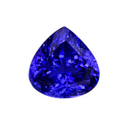 Faceted Heart Shape Loose Tanzanite Gemstone