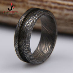 RING!!! Damascus Carbon Steel Beautiful Handmade Ring Blank for Inlay