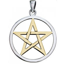Fashion Necklace Charms Silver Pentacle Pentagram Pendant