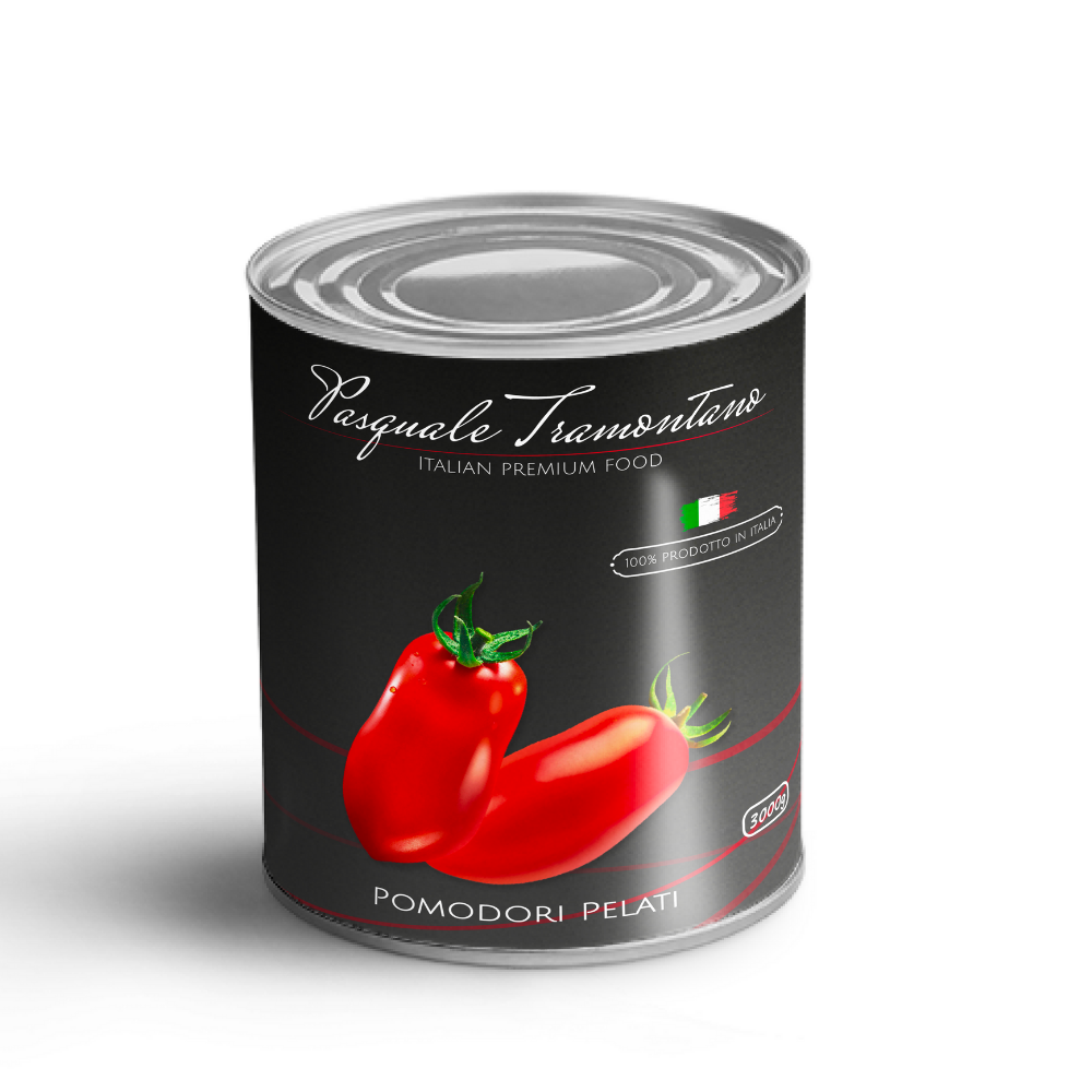 New Italian Food Brand | Peeled Tomato in Can 6 x 3Kg - Horeca Furniture Ready to Ship