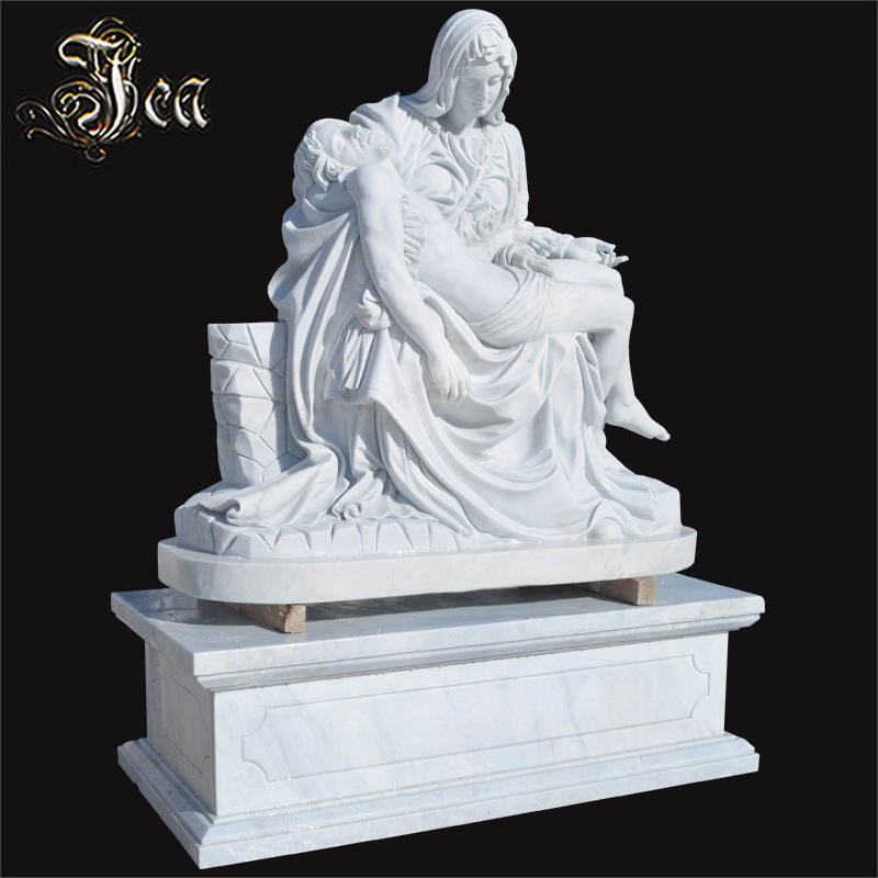 Stone Carving Marble Virgin A Mourns Chirst Statue Sculpture