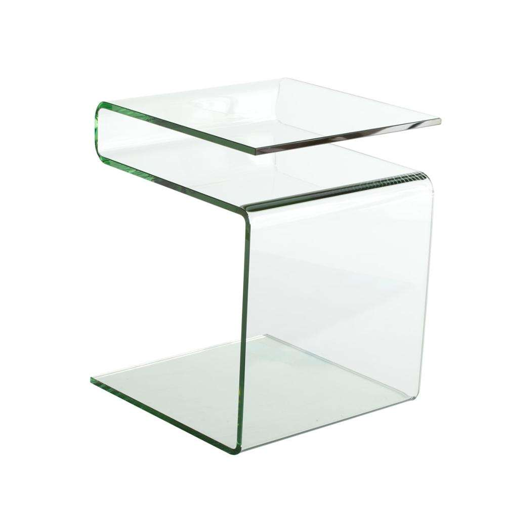 Acrylic Modern Pedestal S Side End Table