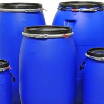 High quality Plastic Barrel ,Drum 200 Litre HDPE Open Top Blue Plastic Drum