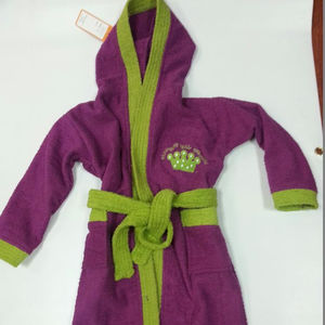 Kid Bath Robe with embroidery logo