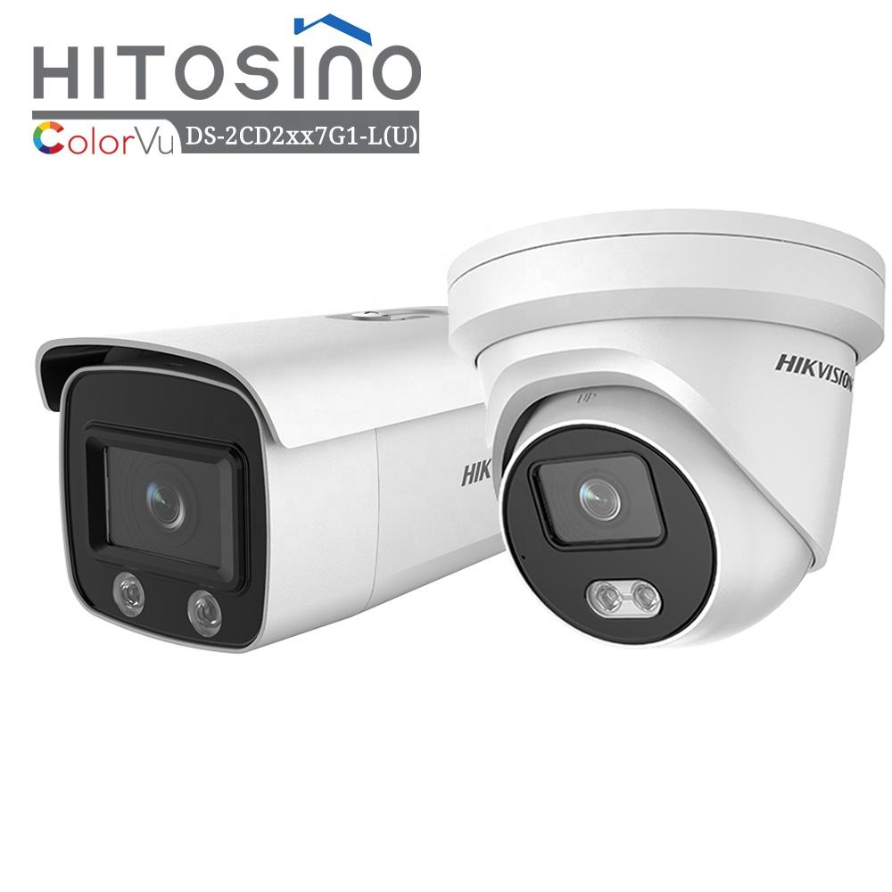 HITOSINO HIK OEM Vision Home Surveillance Outdoor 4MP Bullet Turret PoE Security Color Night Vision Colorvu IP Video CCTV Camera