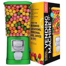 Gumball Machine Mechanical - Gumball Bouncy Balls Vending Machine - Small Toys in Capsules Vending Machine, No Stand
