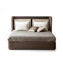 Top Quality Latest Double Bed Browinie Italian Designs Hotel Wooden Bed