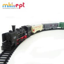 Electric railway scale toy train set with sound &light