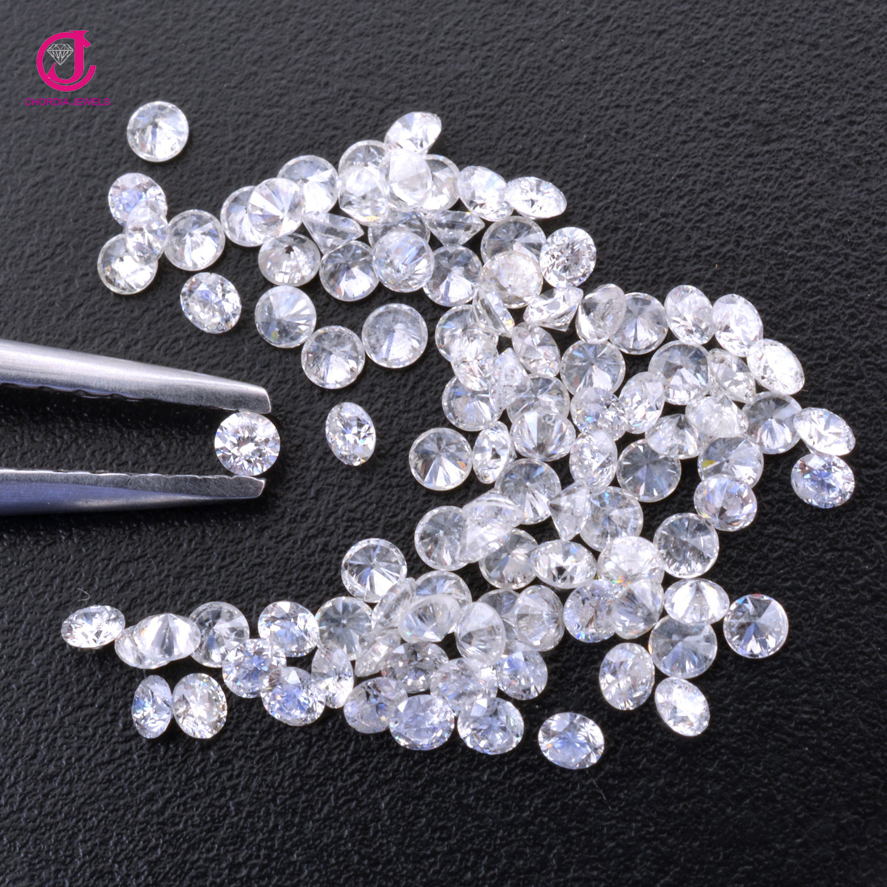 1.6MM - 2MM 100% Natural I1 Purity White Diamond Faceted Round Cut Loose Diamond For Jewelry At Wholesale Price